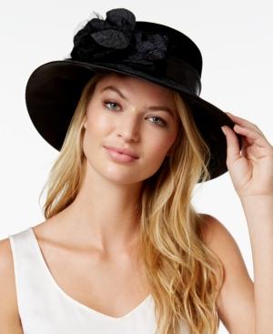 Edwardian Style Hats, Titanic Hats, Derby Hats August Hats Velvet Graceful Wide-Brim Dress Hat $28.00 AT vintagedancer.com