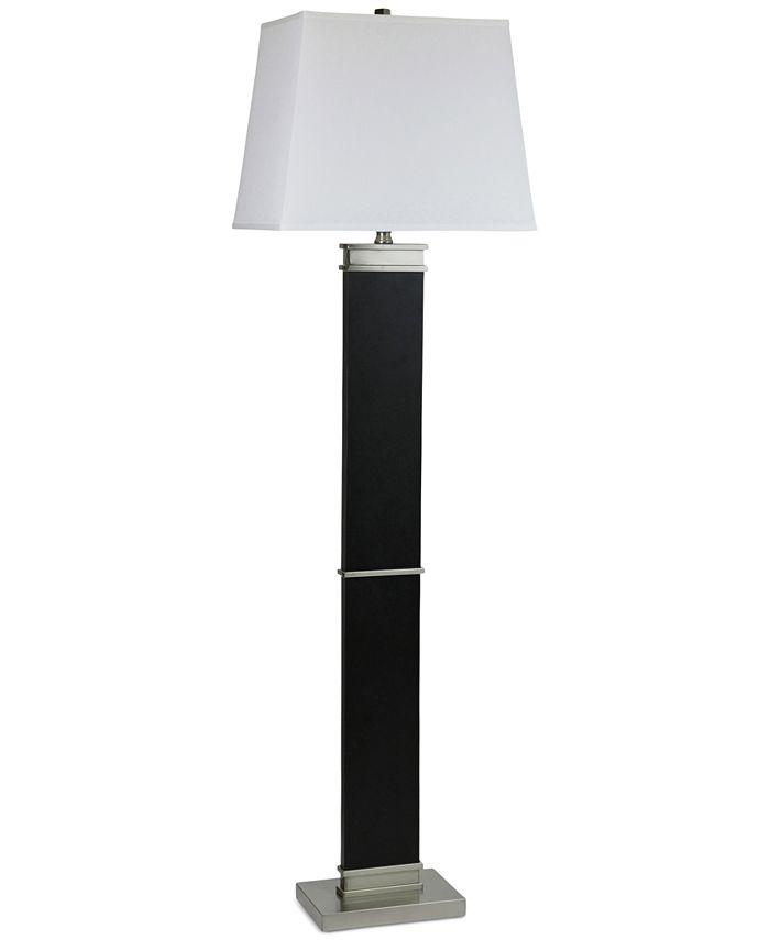 StyleCraft - Barrer Black Steel Floor Lamp