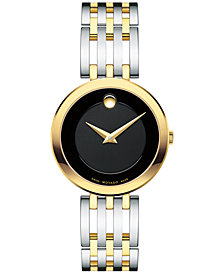 Movado Women's Swiss Esperanza Two-Tone PVD Stainless Steel Bracelet Watch 28mm 0607053