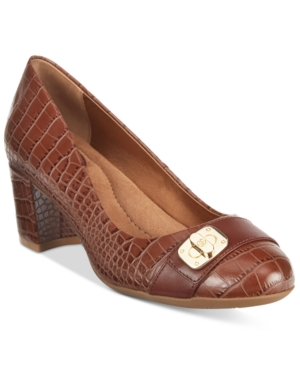 Giani Bernini Lorenn Block-Heel Pumps, Only at Macy's Women's Shoes