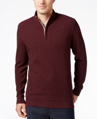 Image of Tasso Elba Men's Quarter-Zip Pullover, Only at Macy's