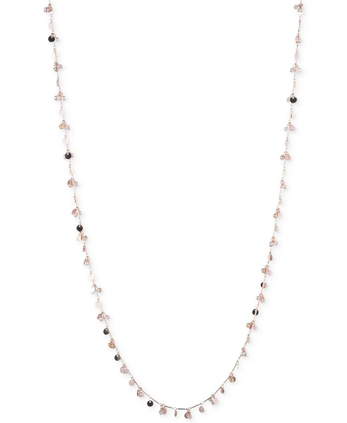 lonna & lilly - Rose Gold-Tone Long Shaky Bead Necklace