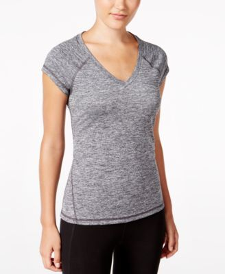 Image of Ideology Essential V-Neck Performance Top, Only at Macy's