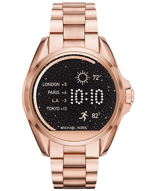 Michael Kors Access Unisex Bradshaw Smart Watches Smart Watch Straps Reviews Boots Shoes Macy S