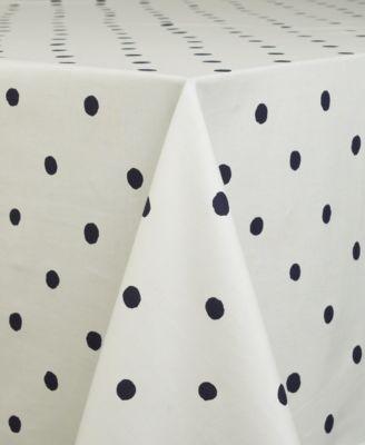 "kate spade new york Charlotte Street Navy Oblong 60"" X 84"" Tablecloth"