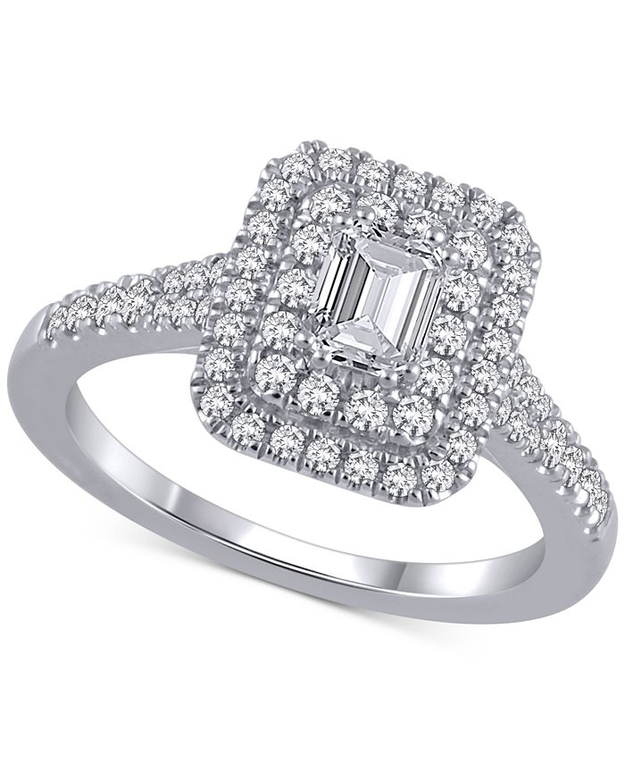Marchesa - Certified Diamond Engagement Ring (1 ct. t.w.) in 18k White Gold