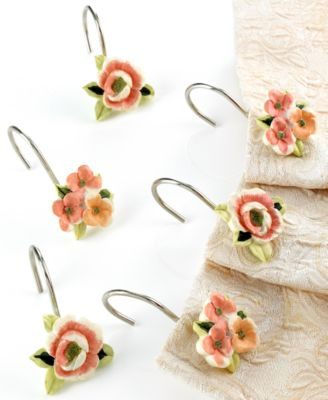 "Avanti ""Rosefan"" Shower Curtain Hooks"