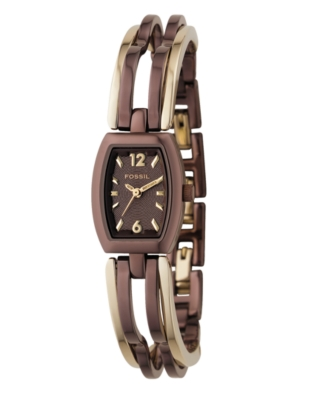 Fossil Watch, Women's Brown Ion-Plated Stainless Steel Bracelet ES1859