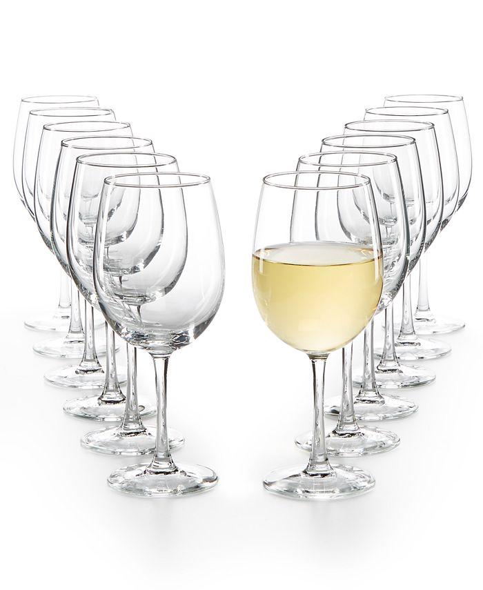 Martha Stewart Collection - Essentials 12-Pc. White Wine Glasses Set