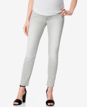 Light Grey Wash Maternity Skinny Jeans