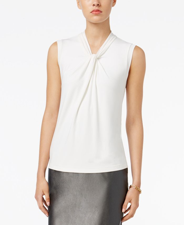 Tommy Hilfiger - Sleeveless Knot-Detail Top