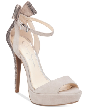 Jessica Simpson Baani Embellished Platform Sandals Women's Shoes