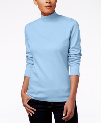 Image of Karen Scott Mock-Turtleneck Top, Only at Macy's