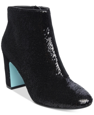 Blue by Betsey Johnson Blair Sequin Ankle Booties Women's Shoes