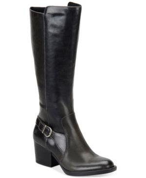 Born Hillman Block Heel Tall Boots Women's Shoes