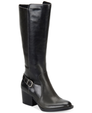 Born Hillman Block Heel Tall Boots Women's Shoes