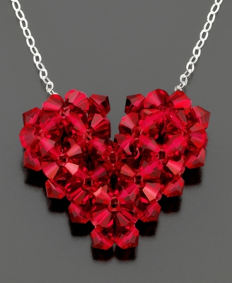 Red Crystal Heart Pendant - Heart Pendant