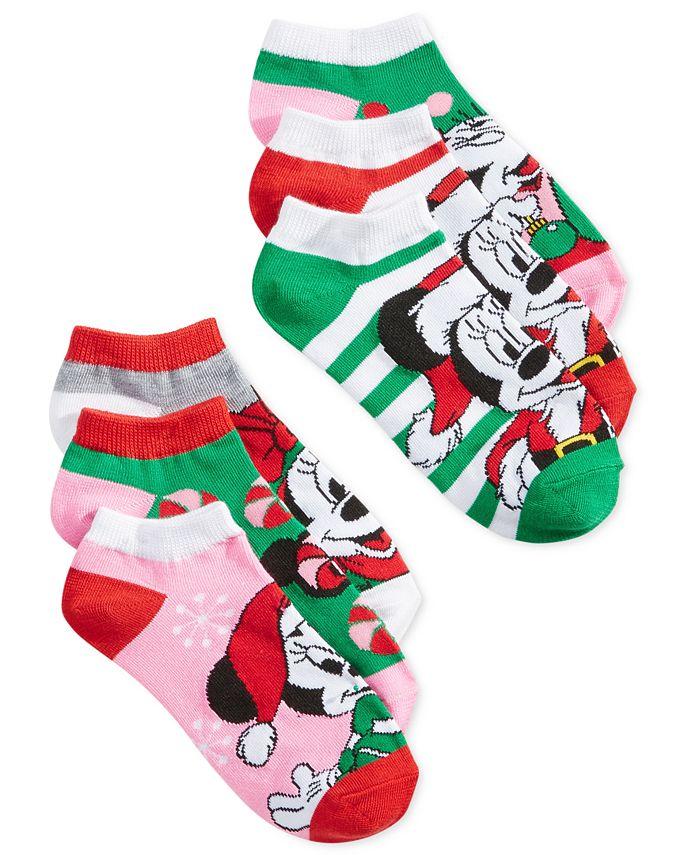 Disney - Women's 6-Pk. Holiday Mickey & Minnie Socks