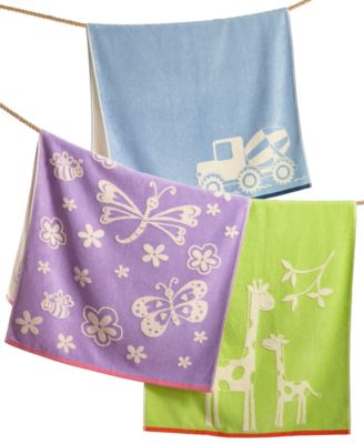 100% Cotton Velour Zoo Hand Towel
