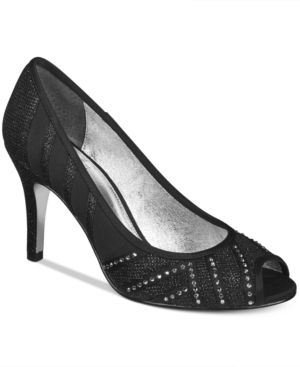 Adrianna Papell Flair Peep-Toe Evening Pumps Women's Shoes