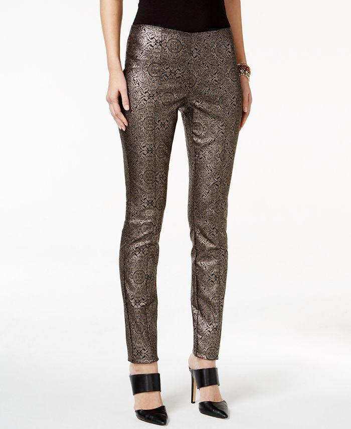 Alfani - Metallic Paisley-Print Pants