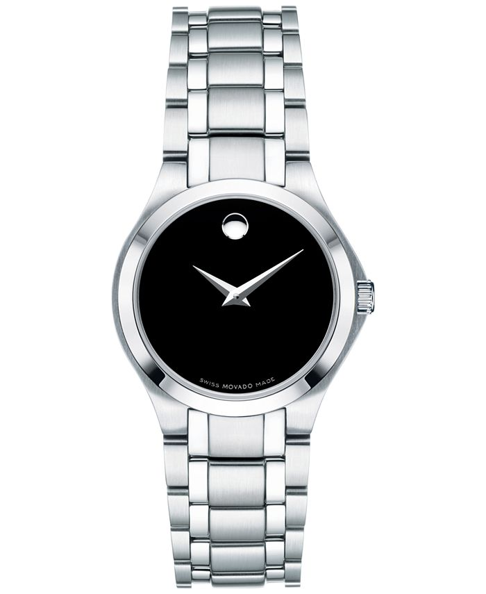 Movado - Women's Swiss Collection Stainless Steel Bracelet Watch 28mm 0606784