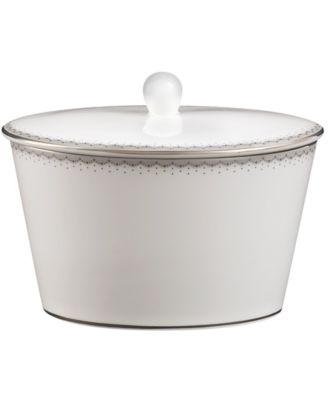 Monique Lhuillier Waterford Dinnerware, Dentelle Covered Sugar Bowl