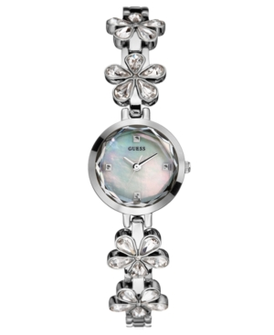 GUESS Watch, Women's Crystal-Flower Bracelet 20mm U95054L1