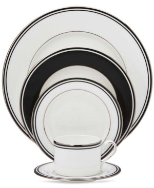"Lenox ""Federal Platinum Black"" 5-Piece Place Setting"