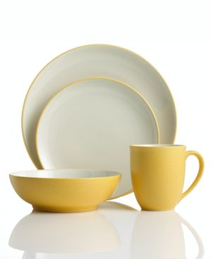 Noritake Colorwave Mustard Coupe 4-Piece Place Setting