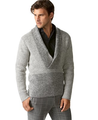 Calvin Klein Long Sleeve Shawl Collar Sweater - Sweaters - Men's - Macy's :  mens macys calvin klein sweaters