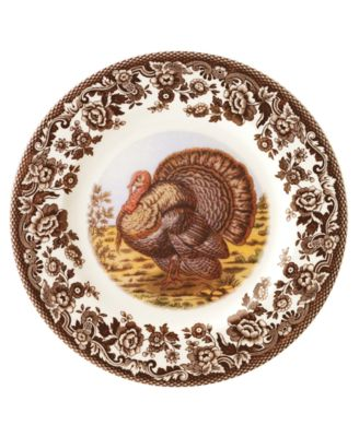 "Spode ""Woodland"" Turkey Salad Plate"