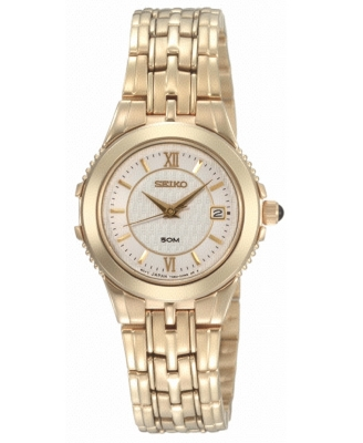 Seiko Watch, Women's Stainless Steel Goldtone Bracelet SXDB20