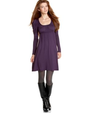 Soprano Scoop-Neck Empire Dress