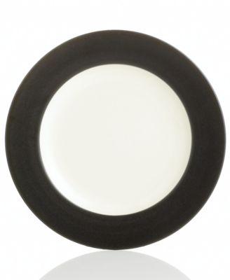"Noritake ""Colorwave Graphite Rim"" Salad Plate"