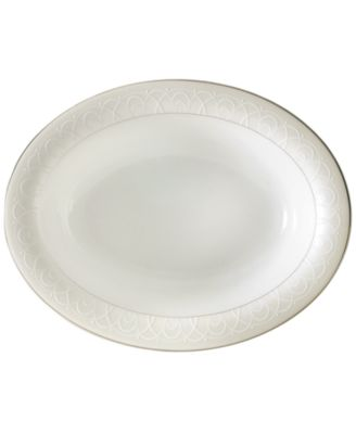 "Waterford Ballet Icing Pearl 15.25"" Oval Platter"