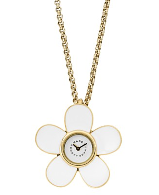 marc jacobs daisy pendant watch
