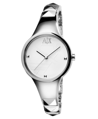 AX Armani Exchange Watch, Women's Stainless Steel Bracelet AX3038