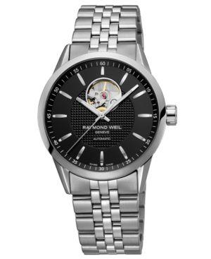 RAYMOND WEIL Watch, Men's Stainless Steel Bracelet 2710-ST-20001