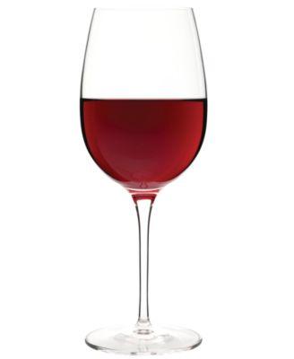 Luigi Bormioli Glassware, Crescendo Chip-Resistant Bordeaux Glasses, Set of 4