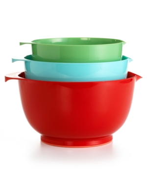 Martha Stewart Collection Plastic Nonskid Mixing Bowls, Set of 3