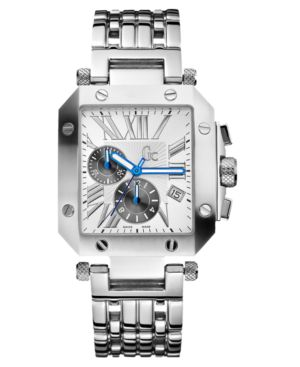 Gc Swiss Made Timepieces Watch, Men's Chronograph Stainless Steel Bracelet Watch G47005G1