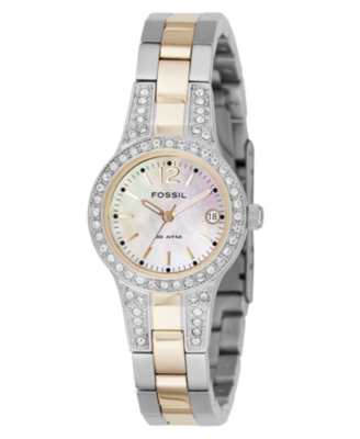 Fossil Watch, Women's Two-Tone Stainless Steel Bracelet AM4193