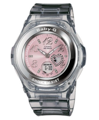 Baby-G Watch, Women's Gray Resin Strap BGA100-8B - Baby-G