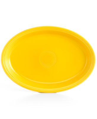 "Fiesta Sunflower 19"" Oval Serving Platter"