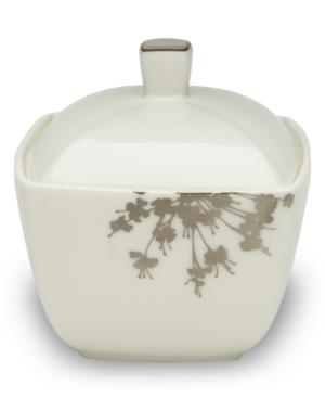 Mikasa Floral Silhouette Covered Sugar Bowl, 12.2 oz.