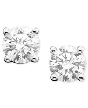 14k White Gold Diamond Stud Earrings (1/2 ct. t.w.)