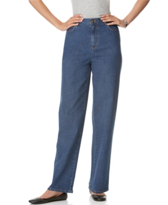 JM Collection Petite Jeans, Straight Leg, Medium Wash