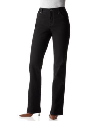 BandolinoBlu Jeans, Mandie Classic Fit Straight Leg, Saturated Black Wash
