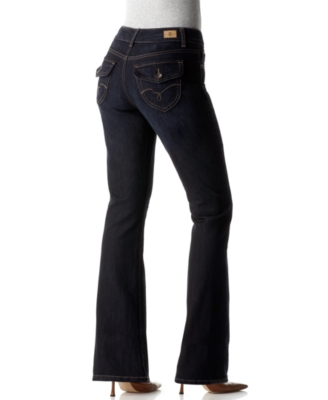 BandolinoBlu Jeans, Arianna Flap Pocket Boot Cut, Rinse Wash